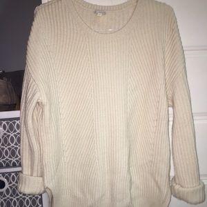 Cream color warm wool sweater